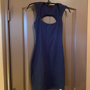 American apparel xs dress blue cut out back NWT
